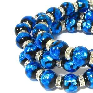 12mm玉使用 ほたる玉&ロンデル(シルバー)使用ブレスレット サイズ16cm/18cm/20cm ほたる石、ほたるガラス、ほたる玉、ホタルガラス、|awamori-zizake