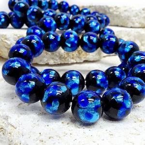 送料無料! 暗闇で光るホタルガラス14mmブレスレット(サイズSS,S,M,,L,、LL) ほたるガラス、ほたる石、ほたる玉 awamori-zizake