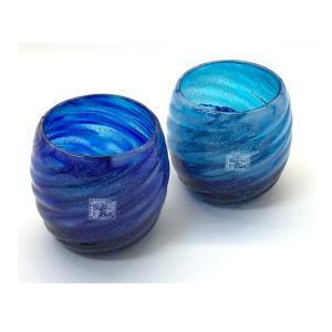 琉球ガラス: コバルトモールTR (全2色):源河源吉 インスタグラム  インスタ映え  グラス  琉球ガラス  源河源吉  沖縄ギフト  沖縄お土産|awamori-zizake