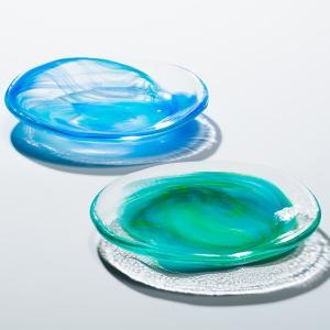 古宇利オーシャンプレート グラス  琉球ガラス  沖縄ギフト  沖縄お土産|awamori-zizake