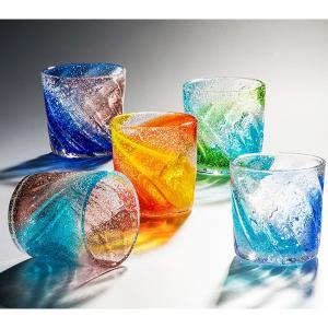 ビーチグラス5色 グラス  琉球ガラス  沖縄ギフト  沖縄お土産|awamori-zizake