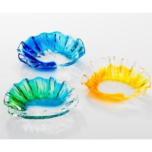 マーメイドディッシュ 3色 グラス  琉球ガラス  沖縄ギフト  沖縄お土産 お中元|awamori-zizake