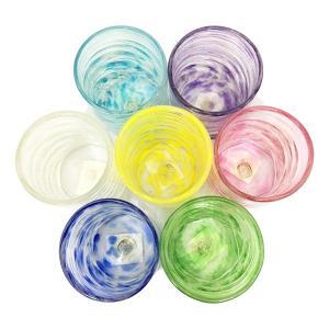 シェルクリアグラス全7色 グラス  琉球ガラス  源河源吉  沖縄ギフト  沖縄お土産|awamori-zizake