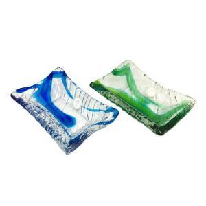 醤油皿:琉球ガラス村工房 琉球ガラス  沖縄ギフト  沖縄お土産|awamori-zizake