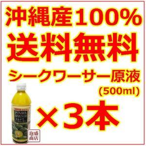 シークヮーサー シークワーサージュース 原液 沖縄 オキハム 500ml  3本セット