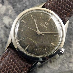 オメガ OMEGA シーマスター アンティーク ref.2802 トロピカルダイヤル 1957年 自動巻き 黒文字盤 時計