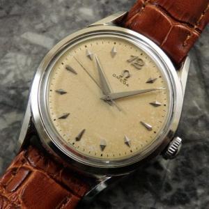 オメガ アンティーク ブレゲ数時 菱型インデックス ツイストラグ OMEGA 1951年 手巻き 時計:]