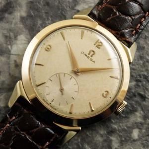 OMEGA(オメガ) 30mmキャリバー ドルフィン針 スモセコ ラウンド アンティーク ユニークラグ 1954年 時計