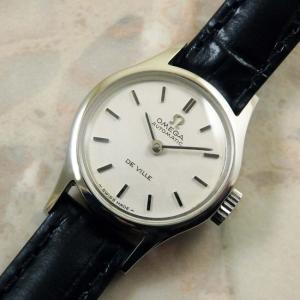 オメガ アンティーク 自動巻 レディースウオッチ バーインデックス 1970年式 OMEGA 時計:]