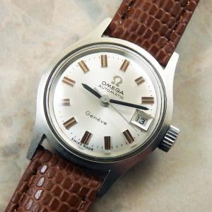 オメガ レディース アンティーク シルバーダイアル 1970年 OMEGA 自動巻き 時計:]