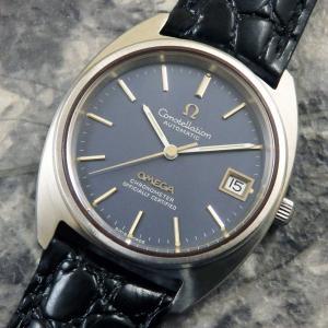 オメガ コンステレーション ジェラルド・ジェンタ/Cライン/後期型 自動巻 希少 ブルーダイアル 1971年 アンティーク OMEGA 時計