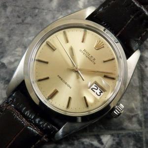 ROLEX ロレックス オイスターデイト Ref.6694 シャンパンダイヤル Cal.1225 1976年 アンティーク 時計