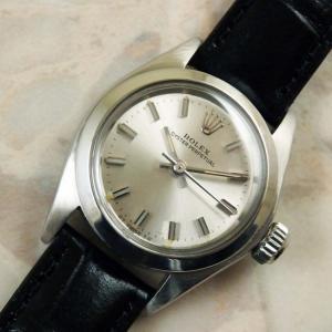 オメガ レディース トノーケース シルバーダイアル 1972年 自動巻き OMEGA アンティーク腕時計:]