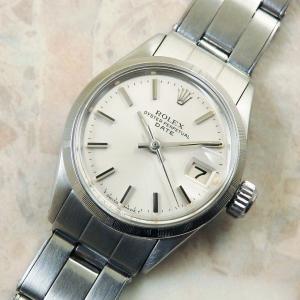 ロレックス オイスターパーペチュアルデイト レディース アンティーク Ref.6519 自動巻き 1964年 ROLEX 時計:]