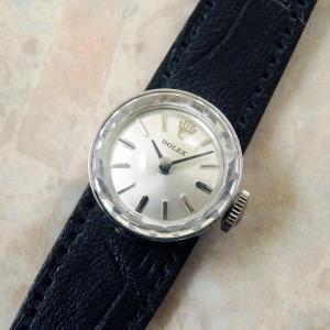 ロレックス カメレオン レディース アンティーク時計 ROLEX 14KWG 金無垢 ホワイトゴールド カットガラス 1960年代
