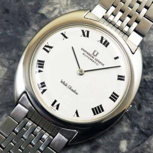 UNIVERSAL(ユニバーサル)ホワイト シャドウ アンティーク 時計 メンズ 自動巻き