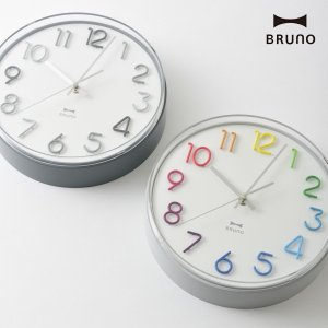 2bb2bd8ff3 BRUNO ブルーノ 壁掛け時計 BCW031 ラウンドトーンウォールクロック [時計 壁掛け 掛け時計 ウォールクロック おしゃれ デザイン 子供  ギフト] 父の日