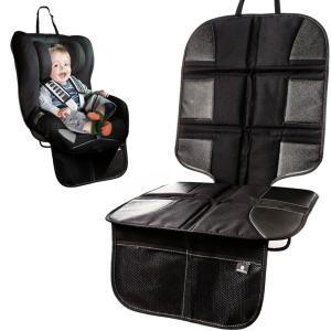 チャイルドシート マット 保護 シート滑り止め&収納ポケット付き 厚みのあるシートプロテクター 座席 カバー