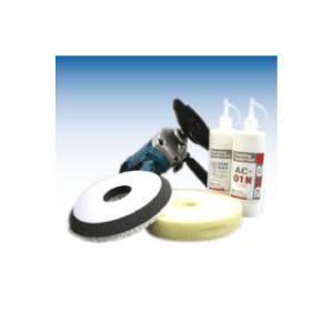 業務用ボディー磨きセット コンパウンド バフ 研磨材配合ワックス ポリッシャー 傷消しコンパウンド 細目バフ ポリッシャーシングル|axe123