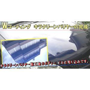 Wコーティング コーティング剤 ガラス 保護 剤 カー ワックス WAX 撥水 コート 最強 洗車 車 用 ケミカル【キラクリーンバリヤー(トライアルセット)】|axe123|06