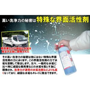 洗車用 水垢クリーナー 水あか 洗剤 強力 ガラスコーティング 車 使用可能 業務用 カーシャンプー 汚れ 落し 雨 液体 クリーナー 黒【水アカ落し2 1Lセット】|axe123|04