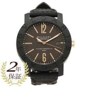 BVLGARI 腕時計 メンズ ブルガリ BBP40C11CGLD ブラウン ブラック|axes