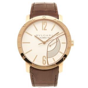 BVLGARI 腕時計 メンズ ブルガリ BBP43WGL ホワイト ゴールド ブラウン|axes