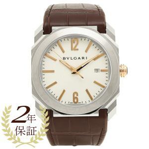 BVLGARI 腕時計 メンズ ブルガリ BGO41WSLD ホワイト シルバー ブラウン|axes
