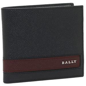 バリー 折財布 BALLY 6208091 ネイビー ブラウ...