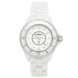 411ad72046 シャネル CHANEL 時計 腕時計 シャネル 腕時計 CHANEL J12 H1628 33MM 12Pダイヤモンド ホワイト レディース ウォッチシリアル有