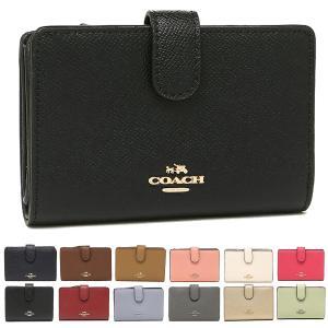 【返品OK】コーチ COACH 財布 二つ折り財布 F11484 クロスグレイン ミディアム コーナー ジップウォレット アウトレット|axes