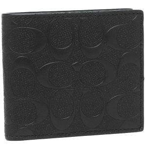 コーチ 二つ折り財布 アウトレット COACH F75363 BLK ブラック 【10%オフ対象】