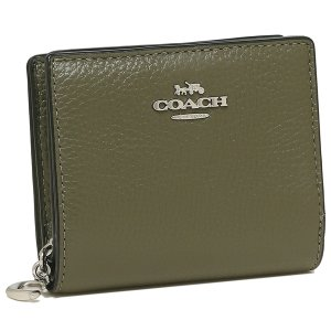 【返品OK】コーチ アウトレット 二つ折り財布 ミニ財布 カーキ レディース COACH C2862 SVB75 axes