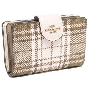 【返品OK】コーチ アウトレット 二つ折り財布 シグネチャー ブラウン ホワイト レディース COACH C6011 IMLOT|axes