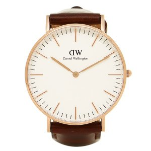 ダニエルウェリントン 腕時計 Daniel Wellington 0507DW ゴールド ブラウン axes
