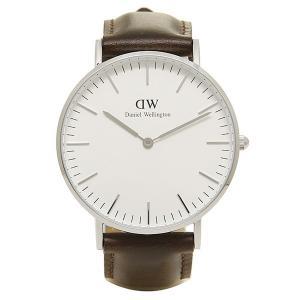 ダニエルウェリントン 腕時計 Daniel Wellington 0611DW 36mm ブラウン/シルバー axes