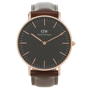 ダニエルウェリントン 腕時計 Daniel Wellington DW00100137 ブラック/ブラウン/ローズゴールド axes