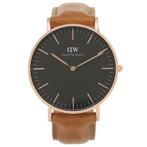 ダニエルウェリントン 腕時計 Daniel Wellington DW00100138 ブラック/ブラウン/ローズゴールド axes