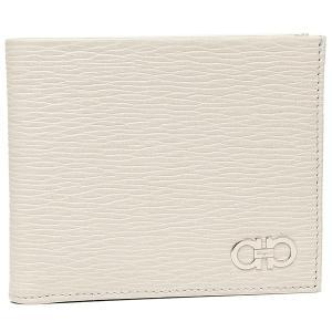 フェラガモ 二つ折り財布 メンズ Salvatore Ferragamo 66A065 0685983 ホワイト