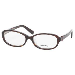 「P15%還元 8/2 10:00まで」フェラガモ 眼鏡フレーム アイウェア レディース 52サイズ ブラウン アジアンフィット Salvatore Ferragamo SF2769A 214 axes