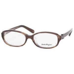 「P15%還元 8/2 10:00まで」フェラガモ 眼鏡フレーム アイウェア レディース 52サイズ ブラウン アジアンフィット Salvatore Ferragamo SF2769A 216 axes