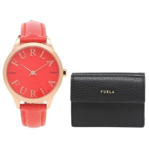 フルラ FURLA ギフトセット レディース 時計 二つ折り財布 32mm クォーツ レッド ブラック 1016398 R4251124505 PCY9UNO HSF000 O6000|axes
