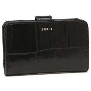 【返品OK】フルラ  二つ折り財布 バビロン Mサイズ クロコ ブラック レディース FURLA PCX9UNO BX0187 O6000|axes
