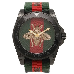 check out 4df2c b3d31 グッチ メンズウォッチ(腕時計ベルト素材:ナイロン、布)の ...