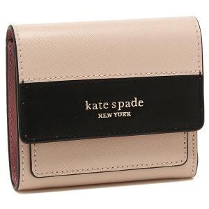 【返品OK】ケイトスペード 折財布 レディース KATE SPADE PWRU7913 195 ライトベージュ ブラック axes