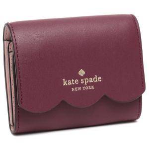 【返品OK】ケイトスペード アウトレット 折り財布 コインケース ジェマ ミニ財布 ボルドー レディース KATE SPADE WLR00553 593|axes
