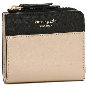 ケイトスペード 折財布 アウトレット レディース KATE SPADE WLRU5430 195 ライトベージュ ブラック