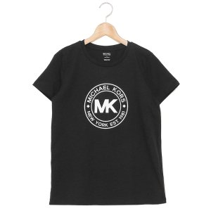 マイケルコース Tシャツ アウトレット ブラック レディース MICHAEL KORS JF05MJ597J BLK axes