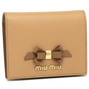 0dff5458c3c8 ミュウミュウ 折財布 レディース MIU MIU 5MV204 2B61 F0QYA ベージュ