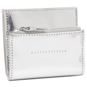 エムエムシックス メゾンマルジェラ 二つ折り財布 ミニ財布 ナンバーロゴ シルバー レディース MM6 Maison Margiela S54UI0128 P4142 H8698 axes